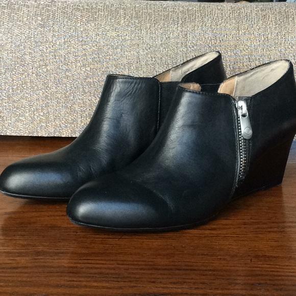 85dd227cb9f Adrienne Vittadini Black Wedge Booties⚡️Final Sale
